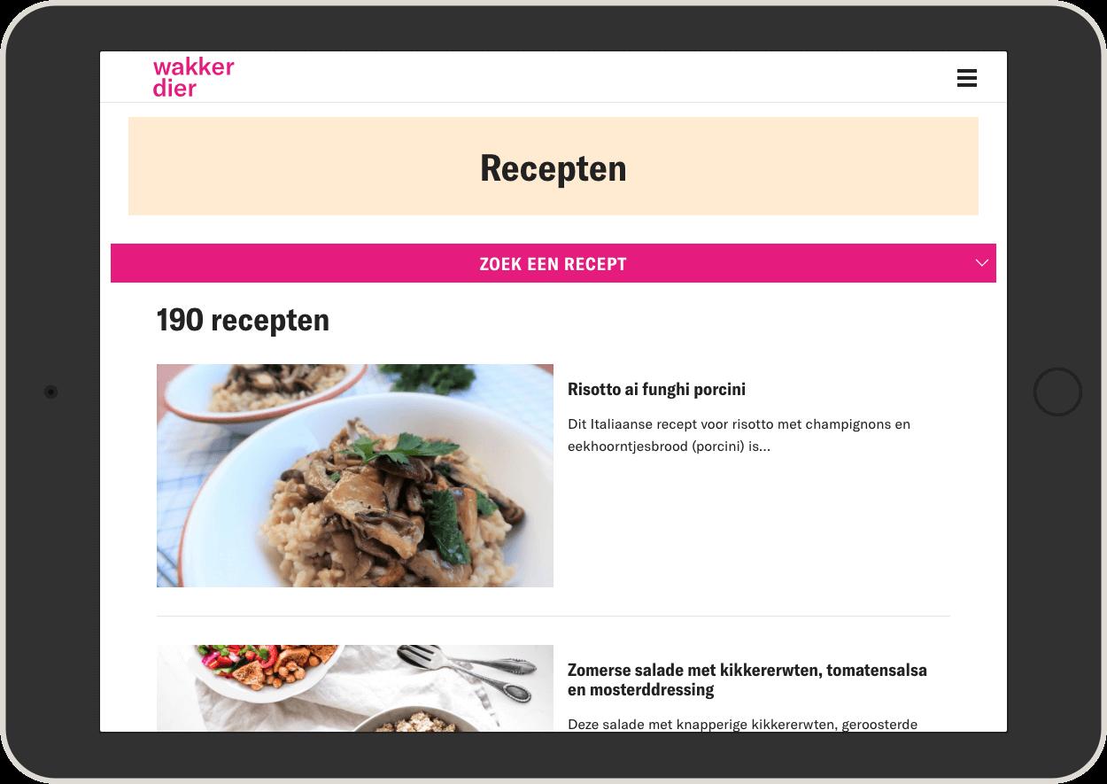 Recepten-iPad