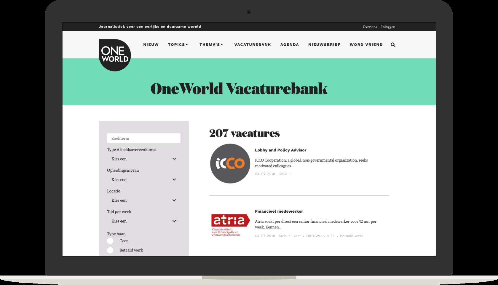 Vacaturebank-Macbook