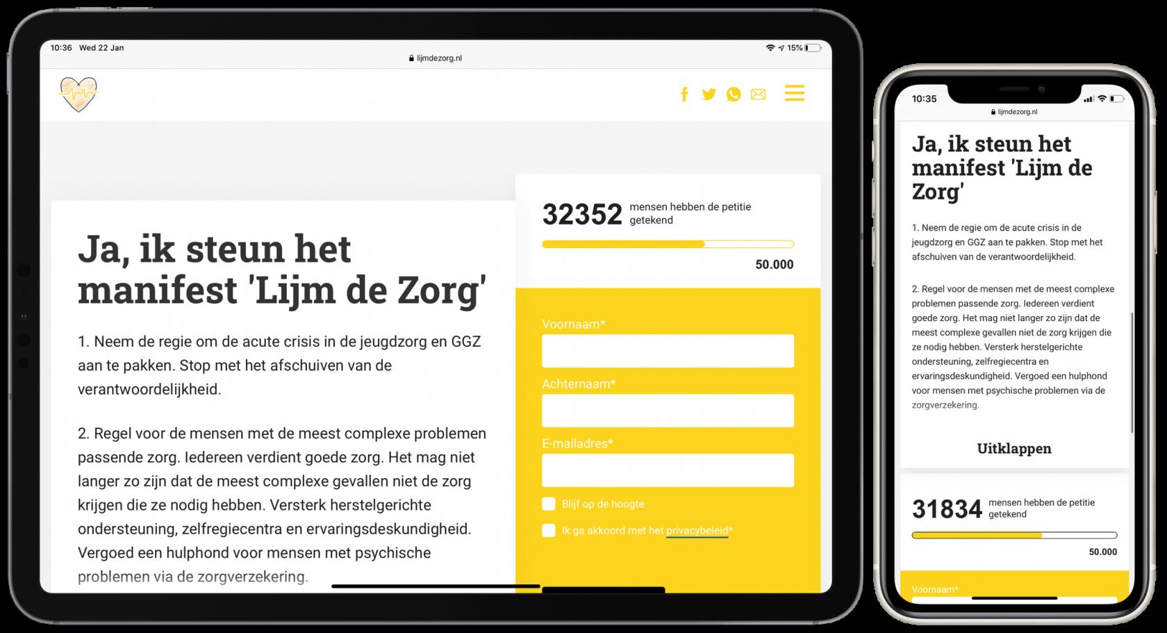 Lijm de Zorg-website